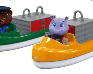 AquaPlay Vracht- en Containerboot met 2 Speelfiguren 255